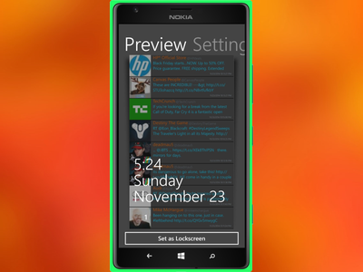 Twitlock windows phone twitter lock screen ui app mobile wp8 lockscreen