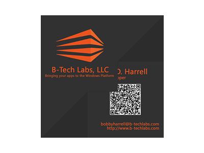 B-Tech Labs, LLC business card