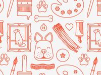 pet portrait pattern