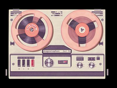 Magnetophone procreate applepencil ipadpro instrument music illustration design