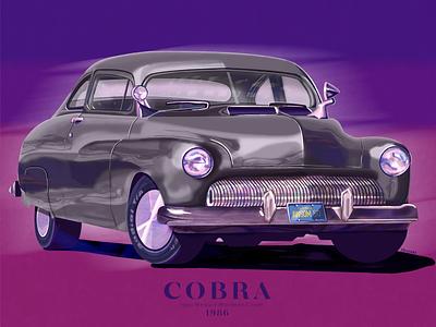 Cobra 1986 / Mercury Monterey Coupé poster digital illustration illustration app design car digitalart applepencil procreate ipadpro
