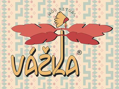 "Playful concept of redesign Czech product ""Vážka"" typography design vector brand logo"