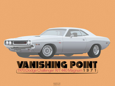 Film Cars Project / #1 Vanishing Point film car illustrator vector design