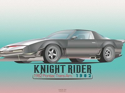 Film Cars Project / #2 Knight Rider film illustration illustrator vector car design