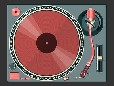 Electronic Music Instruments #1 vectorillustration vectorart graphicdesign gramophone vector vinyl technics