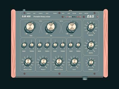 Electronic Music Instruments #2 music art vectorillustration vectorart graphicdesign music djr400 mixpult