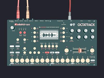 Electronic Music Instruments #3 design music art vectorillustration vectorart music sampler octatrack elektron