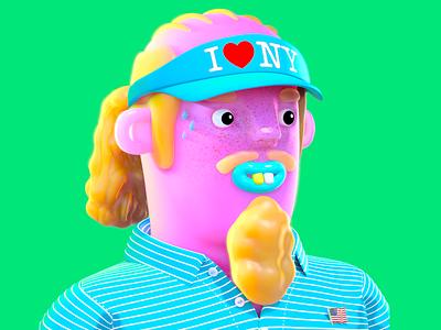 Tourist Dribbble 0001 character render substance zbrush maya cg illustration animation redshift editorial