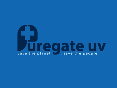 PUREGATE UV logo design concept google kit simple creative logodesign logo design logotype logo designer web animation typography logo illustrator icon branding vector illustration design