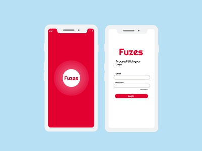 fuzes app ui ux logo designer logotype logodesign illustrator icon branding vector illustration design