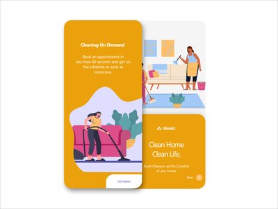 Clean Home app design/graphic and uiux designer 3d animation 3d modeling 3d art website design webdesign icon logo branding minimal app ux ui illustrator illustration design