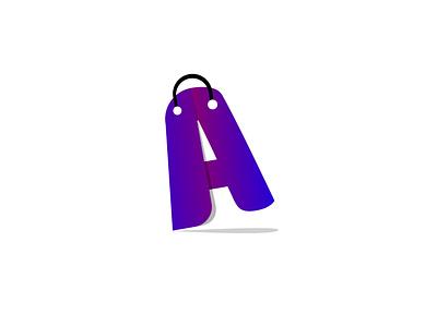 Shoping lettering art animation typography illustrator icon branding vector logo illustration design