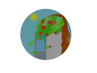tree scene type ui ux animation illustrator icon branding vector illustration design