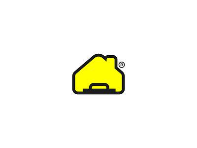 House - Trowel Logo adobe illustrator branding minimal constructions construction logos house logo household houses house construction website construction company construction logo construction logos logodesign logotype logo design logo