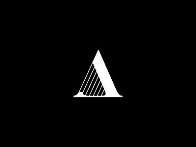 Amy Shafer Harp Logo logos design flat flat logos adobe illustrator branding minimal logo lettering letters letter a amy