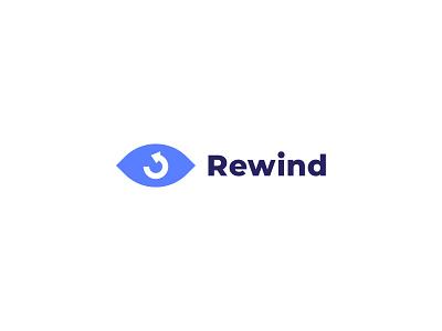 Rewind Logo logodesign logo concept icon logos flat flat logos adobe illustrator branding minimal logo rewind