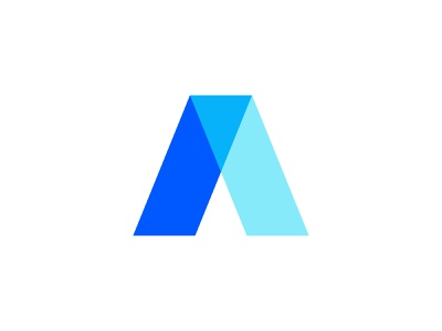 Adrian Onea - Personal Brand ( Logo ) transparency transparent brand design blue and white blue logo concept logos flat logos adobe illustrator minimal logo brand identity branding brand