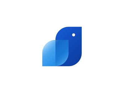Blue Bird Rebound ( for sale ) flat logos adobe illustrator minimal gradient bright sky pets branding animal logo logo bird illustration bird icon bird logo birds bird blue and white blues blueprint blue