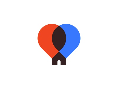 House of Balloons ( for sale ) logo concept logo simple negative space creative minimalism minimal branding up balloon logo balloons balloon house illustration house logo houses household house