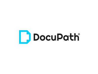 DocuPath logo concept logos flat flat logos branding minimal logo paper papers documentation documents document docupath