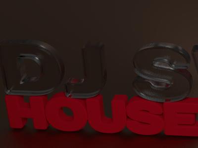 Dj Swak House Music blender cycling music artist logo 3d
