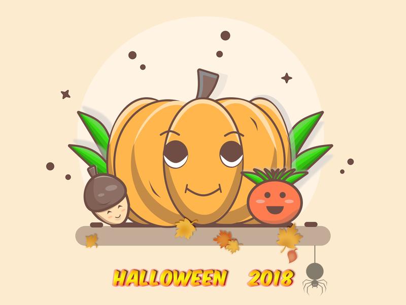 Fun Pumpkin/Halloween 2018 autumn october photoshop figma vector illustration pumpkin halloween halloween design