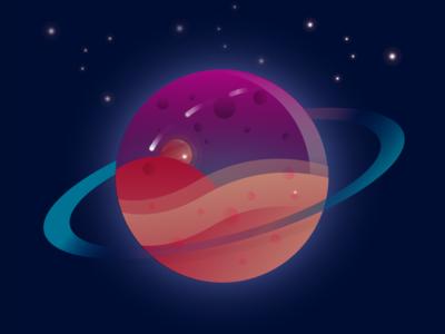 Vector planet design illustration gradient cosmic planet adobe illustrator illustrator vector