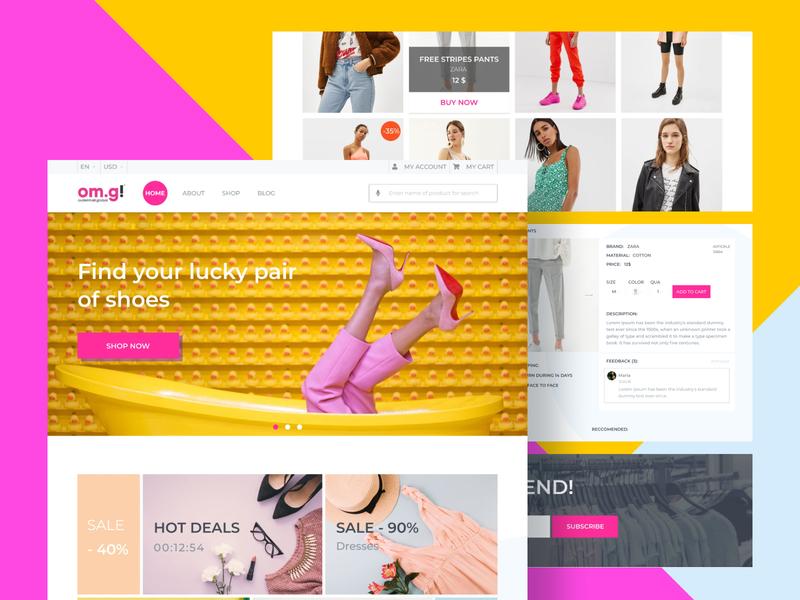 Redesign for e-commerce uiux landing page web webdesign website concept design designconcept minimalist mock up figma design ux ui e-commerce