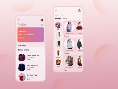 Shopping App Design ui designer dribbble application apparel app design shopping app ui  ux uxdesign mobile app design