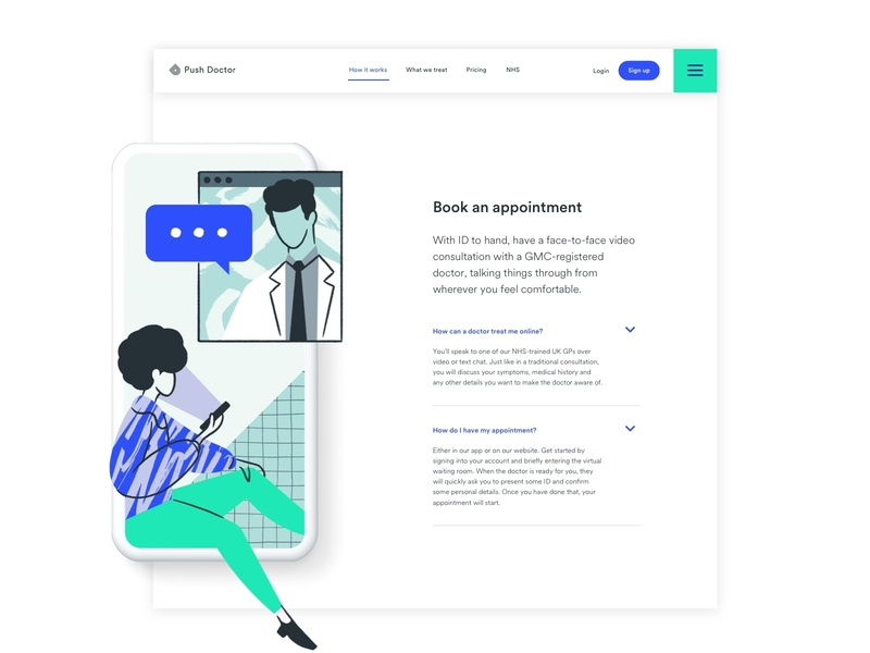 How It Works illustration icon interaction minimal typography design app web ux user research ui branding ui ux startup product design healthcare