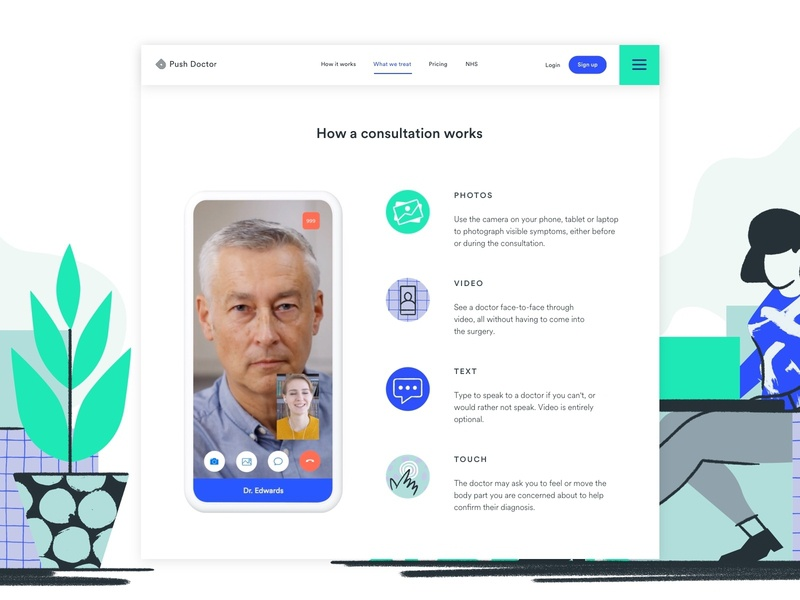 What We Treat Consultation website illustration interaction animation minimal typography design app web ux ui user research branding ui ux startup product design healthcare