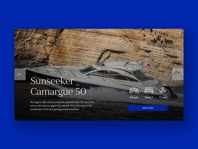 Product Slider travel app font icon product luxury yacht travel graphic  design design landing page website web ux ui typography branding