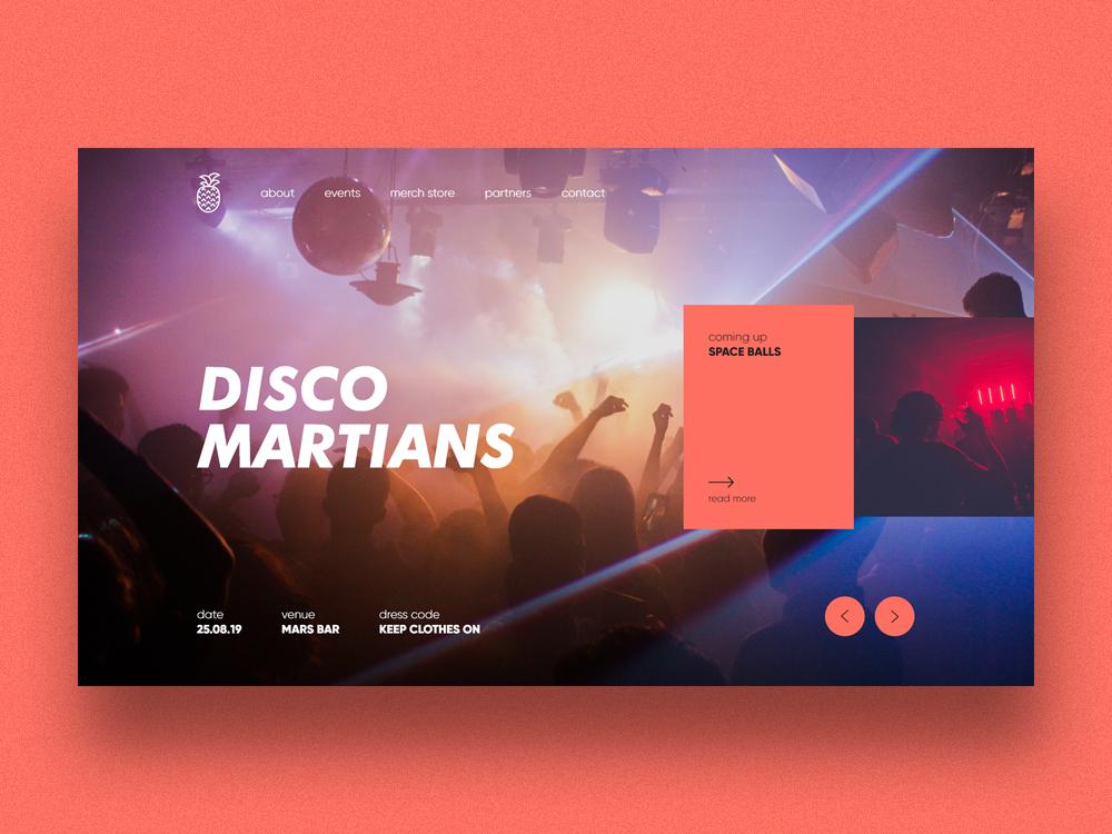 Disco Martians font pantone photograhy travel clean website music poster static malta art landing page web minimal ux ui typography graphic  design design branding