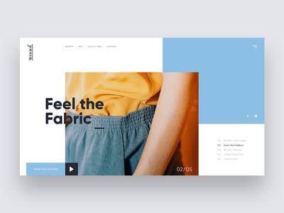 Wooof Clothing slider carousel typography landing fashion clean web design landing page website ux minimal ui design branding
