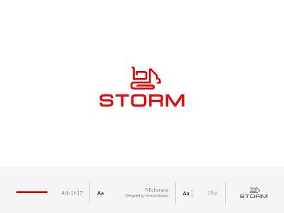 Storm   Excavator company logo simple design branding vector logo