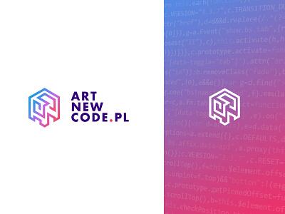 ANC Webdesign agency logo 3d simple gradient branding typography design logo vector