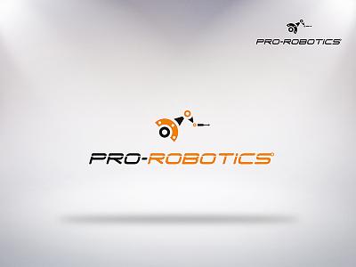 Logo Prorobotics typography design illustration vector logo