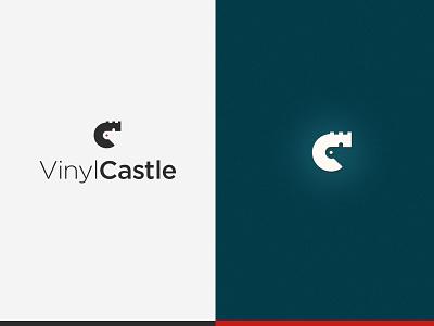VinylCastle Logo branding design vector logo