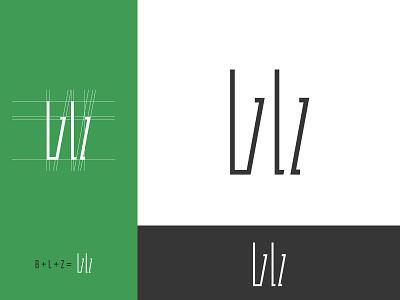 BLZ logo vector typography illustration design logo