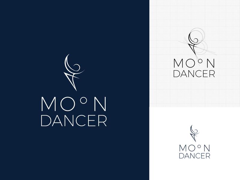 Moondancer logo design typography vector logo
