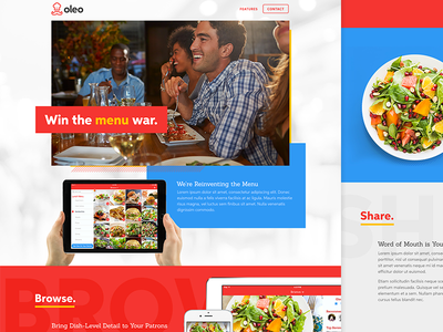 Oleo Landing Page Design website savvy apps