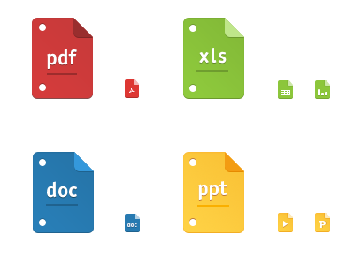 File icons file icons files pdf xls doc ppt icon