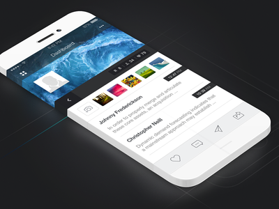 iOS App Dashboard Design 3d interface iphone ios ui infinity mobile 6s iphone 7 ios 9