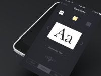Typography Settings Screen
