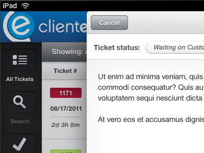 ClientExec for iPad ipad clientexec tickets blah ios
