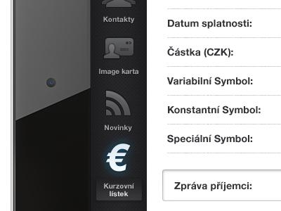 CSOB iPad Interface #02 ui interface ios ipad bank banking csob czech icon icons