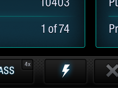 Game Interface #01 game ios iphone dark glow retina awesome quiz interface ui