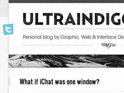 Ultraindigo - Blog Design #01 typography webdesign web website shd4.me uid ultraindigo personal blog