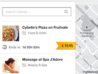 Map Web App - Detail #03 web webdesign ui map ribbon price search price tag