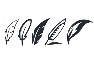 Quills Logo Variations quills quill feather